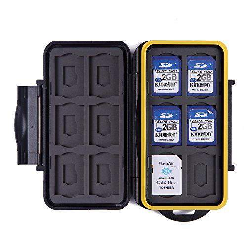 waterproof memory card storage case.