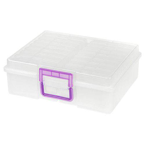 "Do you or a loved one have ""Photo Organization"" on your list of things to tackle in the new year? You'll find all kinds of super useful tools in this Photo Organizing Gift Guide (like this print photo storage container)"