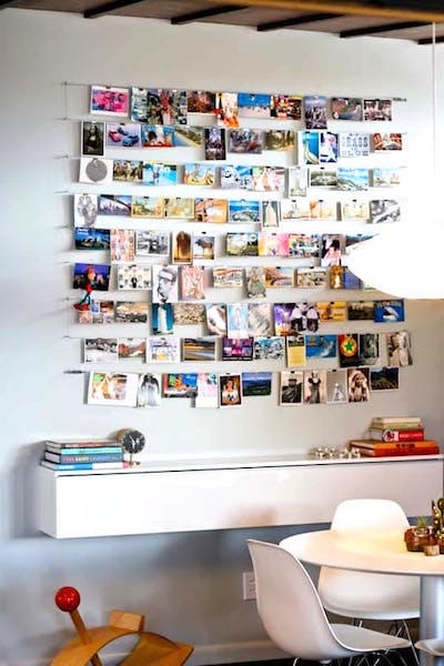 Come see the unique photo display ideas I'm sharing over on the blog, including this unique clip and wire system!