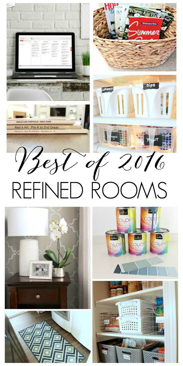 A year in review: come see what organizing projects, room makeovers, and home improvement tutorials were most popular on the Refined Rooms blog in 2016!