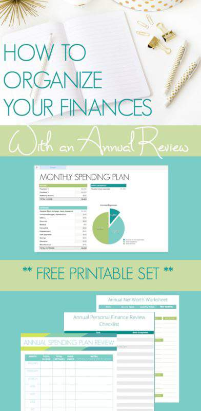 Learn how to organize your finances with an annual review (& download your free printable checklists & worksheets!) at Refined Rooms