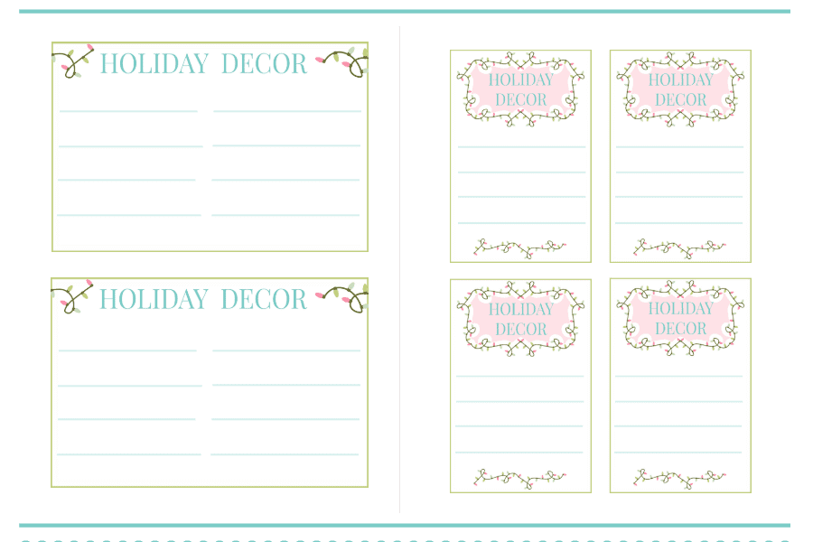 image regarding Free Printable Organizing Labels titled Holiday vacation DECOR Small business + PRINTABLE STORAGE LABELS