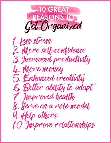 Need motivation to get organized? Download this free 10 Reasons to Get Organized printable at Refined Rooms