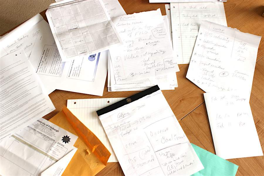 Wondering what to toss during your home office declutter session? Start with paper clutter