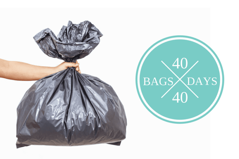 Need to kickstart your decluttering? Take the 40 Bags in 40 Days Declutter Challenge!