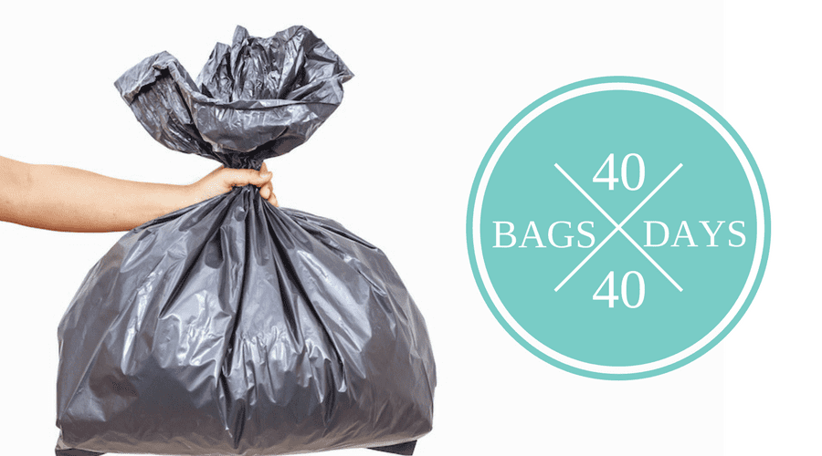 THE 40 BAGS IN 40 DAYS DECLUTTER CHALLENGE
