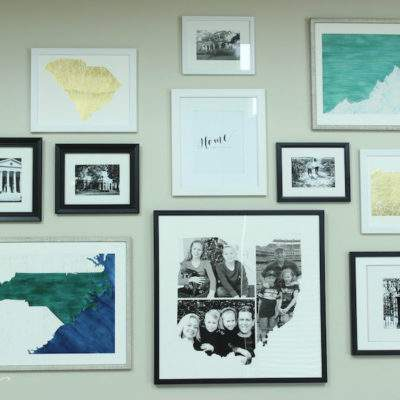 OUR GREAT ROOM GALLERY WALL REVEAL FEATURING MINTED ART