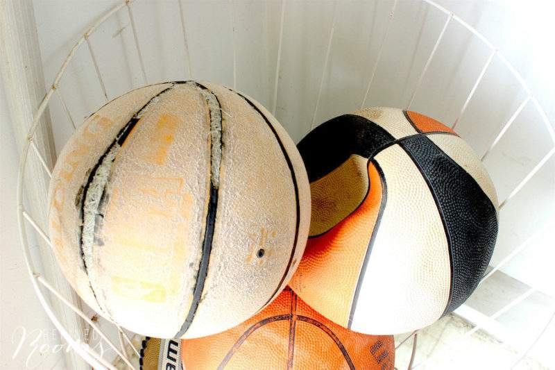 "old sports equipment...just one of the 10 ""no brainer"" things to toss during your garage decluttering session 