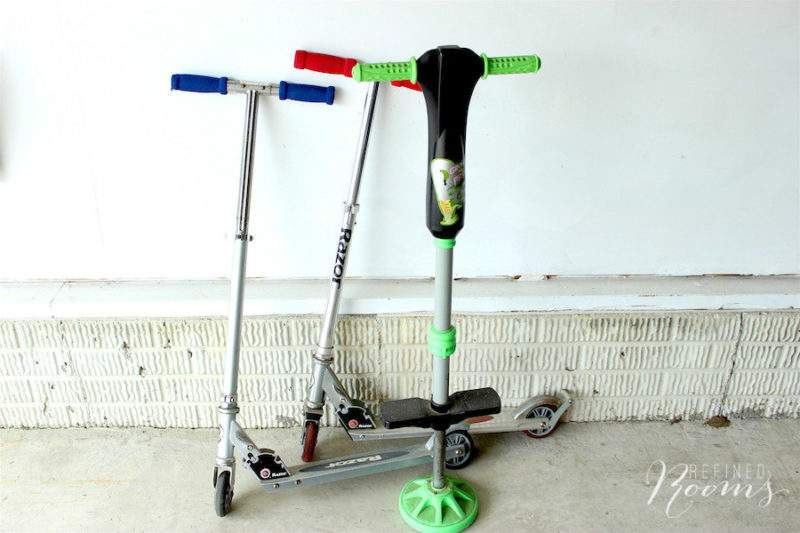 Pogo stick and scooters.