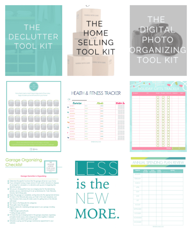 Check out the collection of organizing printables at Refined Rooms