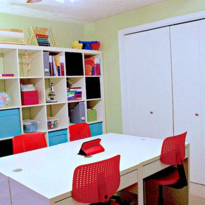 CREATING AN ORGANIZED HOME SCHOOL SPACE WITH IKEA PRODUCTS