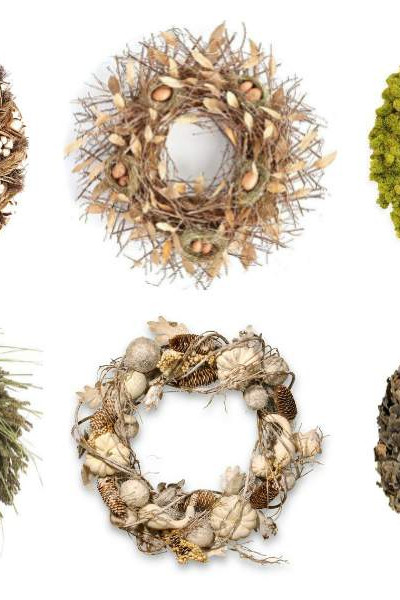 collage of fall wreaths.