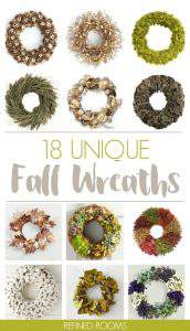 Want to make a statement with your autumn home decor? Check out this collection of unique fall wreaths at Refined Rooms!