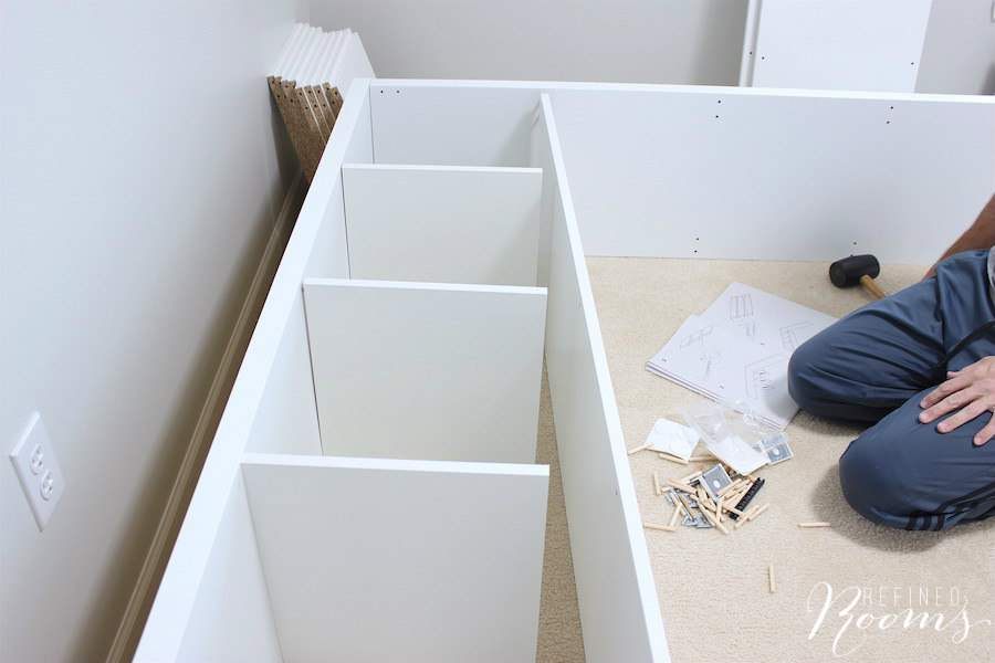 See how far we've come in this season's One Room Challenge - our Homework/Craft Room is really shaping up, now that we built the craft room furniture