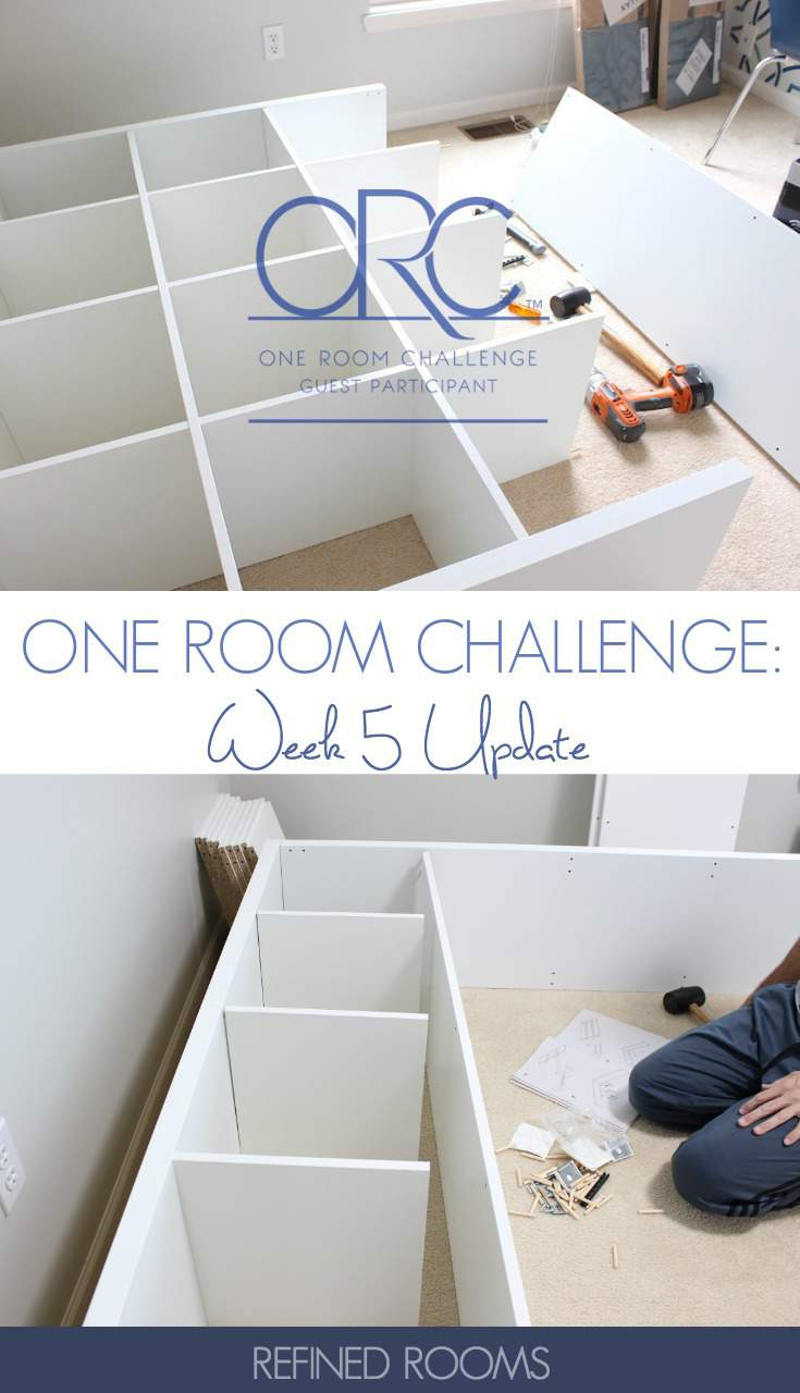 See how far we've come in this season's One Room Challenge - our Homework/Craft Room is really shaping up in week 5