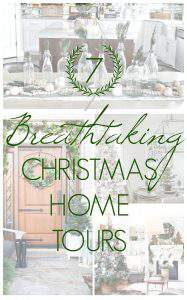 It's a holiday decor binge session! Feast your eyes on these 7 breathtaking Christmas home tours from around the home decor blogosphere! #HolidayHomeTour #ChristmasHomeTour #HolidayDecor