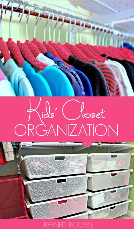 Learn kids' closet organization tips as part of the organize and refine challenge | #organizingkids #kidscloset #homeorganization #organizeandrefinechallenge #refinedrooms #closetorganizing #closetorganization #closetstorage