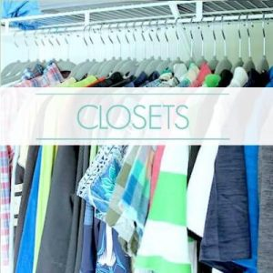 "organized closet - text ""closets""."