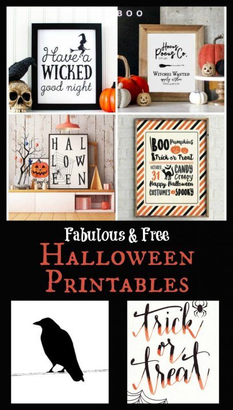 Love Halloween decor, but you're short on time (and cash)? Download these free Halloween printables to scary up your abode this year! #Halloween #halloweenprintables #halloweenart #halloweendecor #freeprintables #RefinedRooms