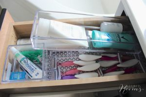 bathroom organization products - acrylic drawer dividers