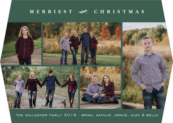 a family holiday card.