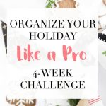 organize your holiday like a pro challenge logo.