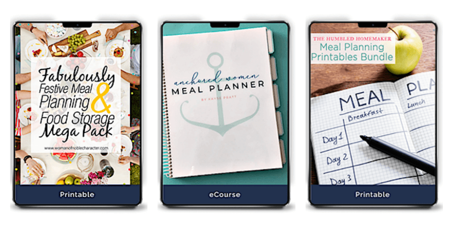 Creating a meal planning/recipe binder is just one of the ways you can organize your home using binders (and some great printable resources too)! #homeorganizing #organizedhome #paperorganization #paperclutter #homemanagement #binders