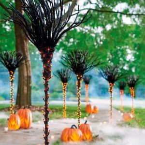 outdoor halloween scene