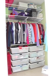 organized teen closet in home for sale