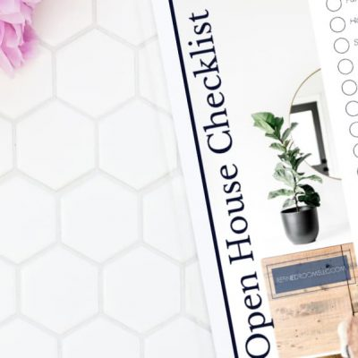 House Showing & Open House Checklist for Sellers {Free Printable}