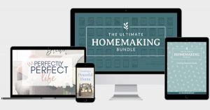 2020 Ultimate Homemaking Bundle - screenshot devices displaying the Bundle.