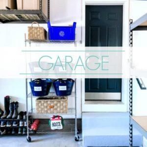 "organized garage - text ""garage""."