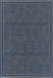 Marina navy and white indoor-outdoor rug.