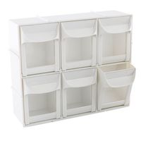 modular flip out bins for craft room storage