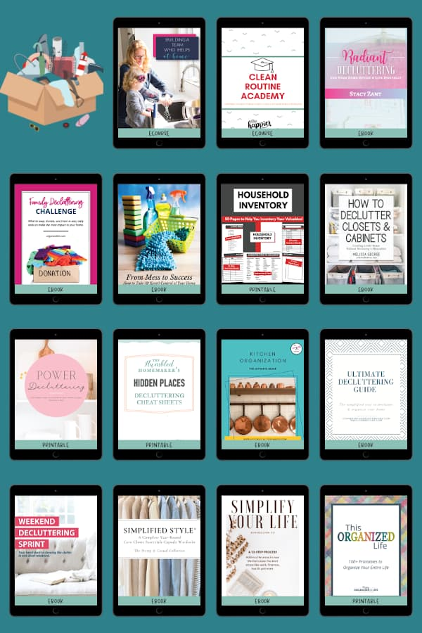 collage of digital resources displayed on ipads.